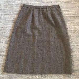 Dresses & Skirts - 100% Wool Brown skirt, EUC, size 14